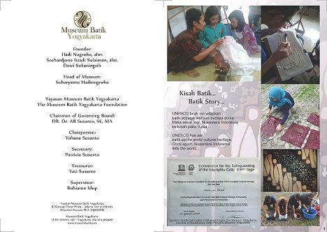 Buklet Profil Museum Batik Yogyakarta   Booklet Museum Batik Yogyakarta Profile 2015 | Tentang Batik | Museum Batik