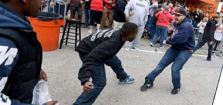 PHOTO: 'Peaceful' Black Lives Matter protester attempts to stab white guy in Baltimore riot