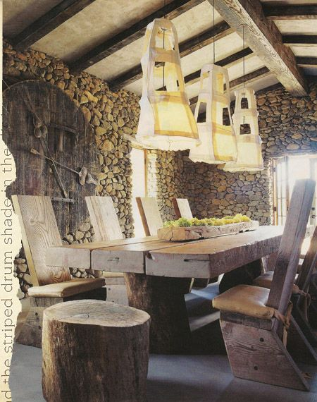 Ron Mann design.: Dining Room, Lights Tables, Lights Fixtures, Basements Design, Rustic Contemporary, Interiors Design, Rustic Design, Hanging Lamps, Wendy Owens