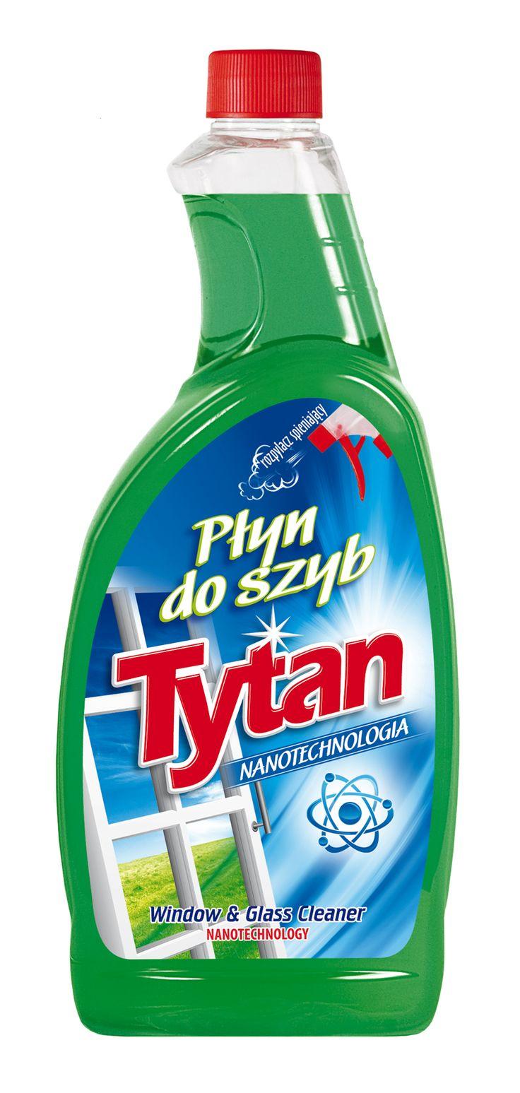 Płyn do mycia szyb Tytan nanotechnologia zapas 750ml