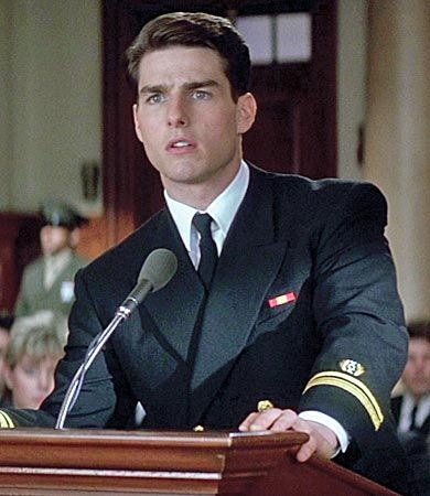 Tom Cruise in a Few Good Men.