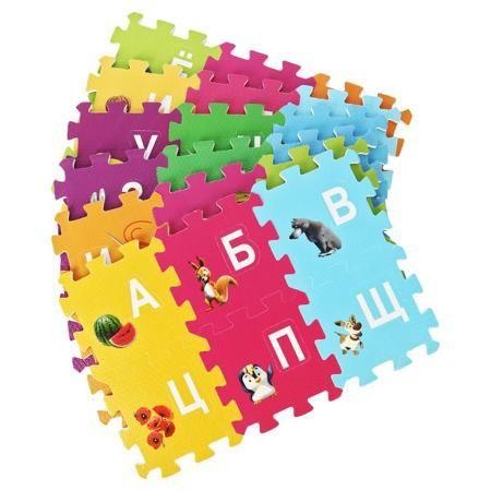 Коврик-пазл Маша и Медведь Буквы 36 деталей  — 1090р. ---------- Коврик-пазл Маша и Медведь Буквы не только украсит интерьер детской комнаты, но и послужит отличной игровой площадкой для Вашего малыша. Тридцать шесть деталей из качественного и безопасного ПВХ легко собираются в красочный коврик, на котором изображены буквы и герои мультфильма. Сборка не вызовет сложностей у крохи, поскольку каждая деталь тщательно проработана и без усилий соединяется с нужной другой частью. Добрые зверушки…