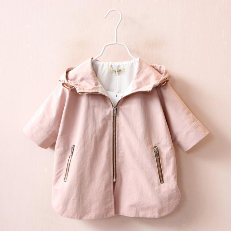 >> Click to Buy << 2017 autumn children's clothing girls trench cartoon half sleeve hooded zipper baby girl trench coats for girls kids cape coat #Affiliate