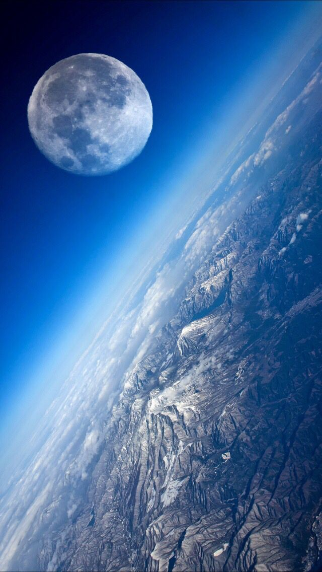 глазных красивое фото с космоса земли и луны помощью