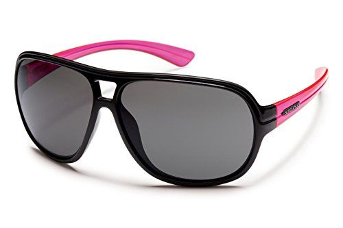 Suncloud Optics 2013 Wingman Polarized Sunglasses (Black/Neon Pink Temple  Grey Polarized) For Sale http://eyehealthtips.net/suncloud-optics-2013-wingman-polarized-sunglasses-blackneon-pink-temple-grey-polarized-for-sale/