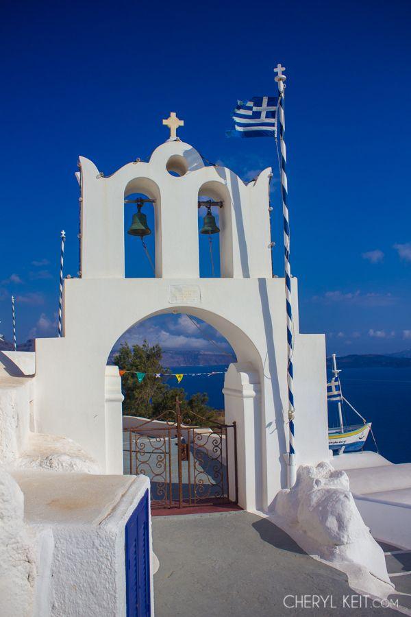 Church in Oia village, Santorini island, Greece. Selected by www.oiamansion.com