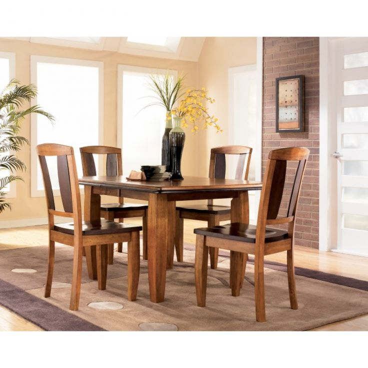 Ashley Shit Urbandale 5 Piece Dining Set Extension Table 4 Side