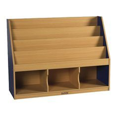 3 Compartment Book Display w/ Storage-BL by ECR4Kids