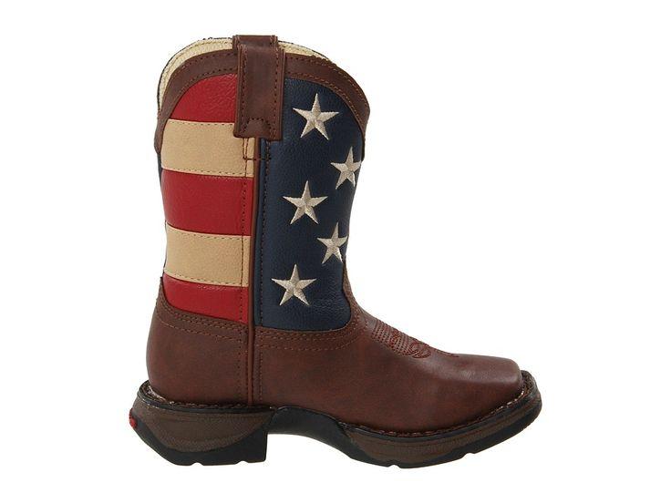 Durango Kids BT245 - Flag (Toddler/Little Kid/Big Kid) Cowboy Boots Brown/Flag