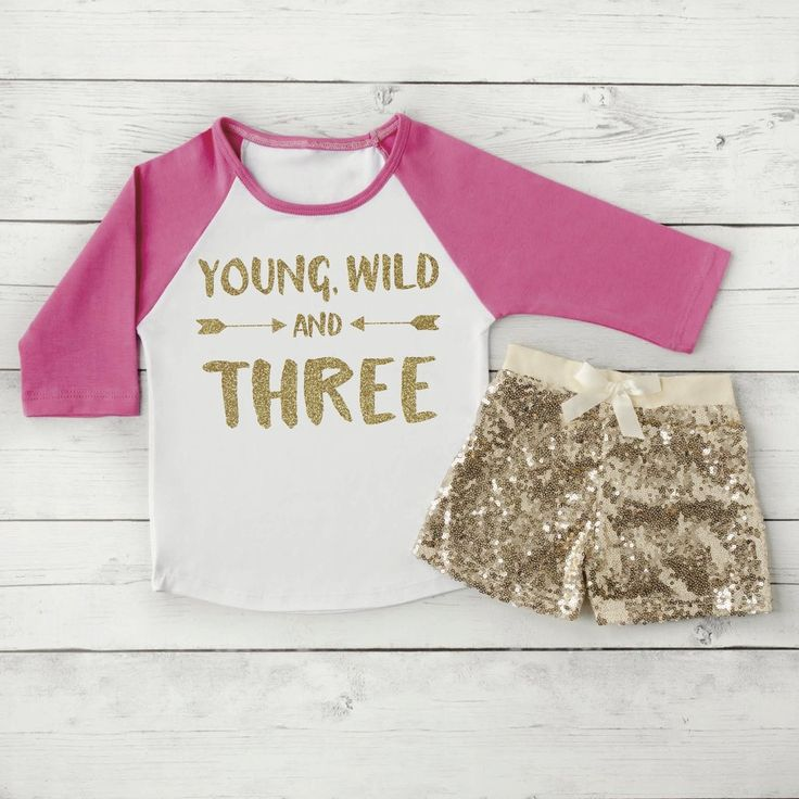 Hipster Kids Clothes Young Wild and Three Third Birthday Shirt Toddler Fashion Trendy Toddler Girl Clothes Trendy Kids Clothes 181 #3_year_old_outfit #3rd_birthday_shirt #birthday_shirt