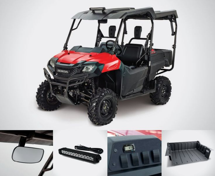 Honda Pioneer 700-4 Accessories Review | Hard Roof / Top, LED Light Bar, Switch Plate / Volt Meter / Wire Harness, Bed Liner | Discount Parts Prices + More by www.HondaProKevin.com