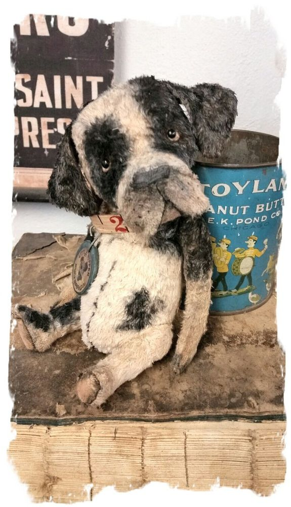"Image of Little Nipper Dog ~ 8"" size -a Frumpy Pup * Whendi's Bears"