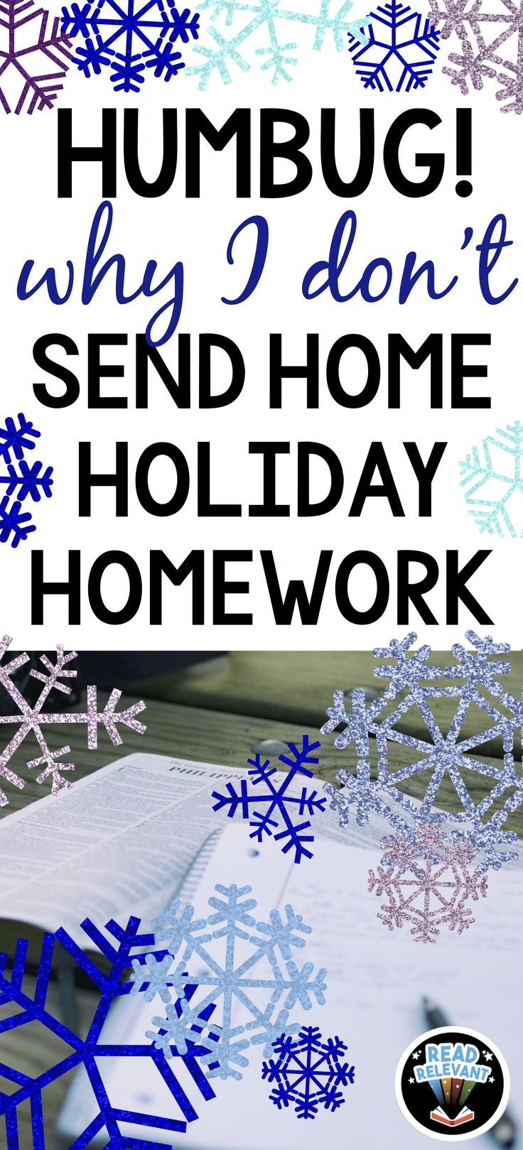 Holiday homework and holiday packets are popular at this time of year... but here's why I gave them up.