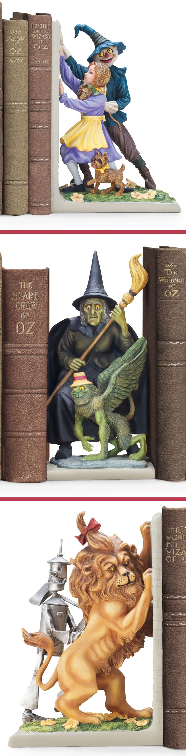 Wizard of oz christmas decorations uk - Wizard Of Oz Be Whisked Away To L Frank Baum S Magical Land With The Wonderful World Of Oz Bookends Collection A Limited Edition First