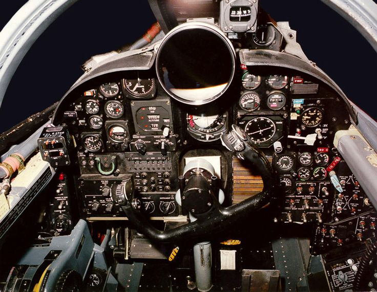 U-2 spy plane old cockpit.