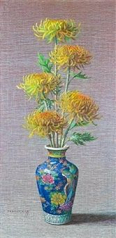 Chrysanthemums By Vladimir Tretchikoff