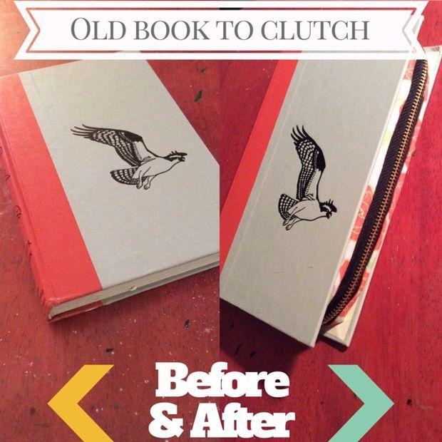DIY Book Clutch With Zipper - via - Instructables