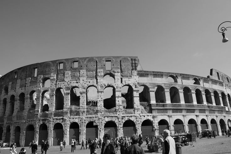 Colosseum @ Rome, Italy :  considered one of the greatest works of Roman architecture and Roman engineering