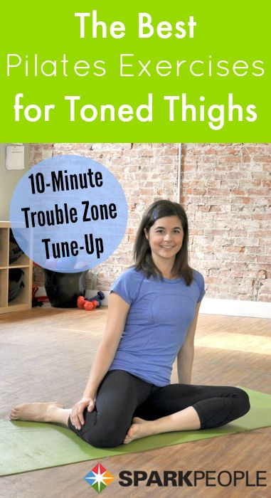 10-Minute Pilates Thigh Workout. This is GREAT! | via @SparkPeople