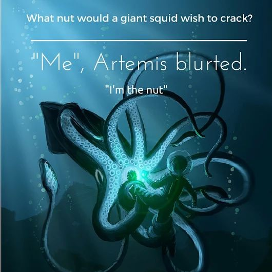 I'm the nut!!! Definitely my favorite quote from Artemis Fowl.