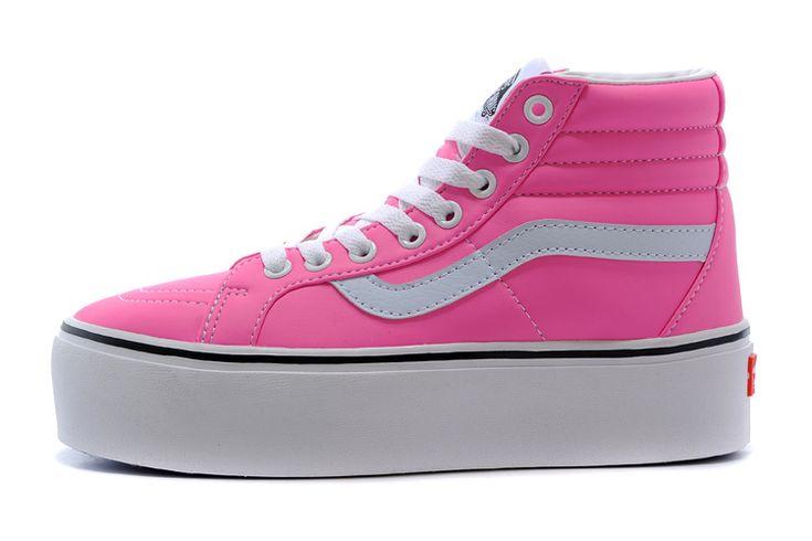 VANS Sk8 Hi Platform Mid Grils SHOES Neon Iridescent Pink [VN-ORBF7Q9 V092] - $66.99 : cheap vans shoes for men, buy vans skate shoes women online sale