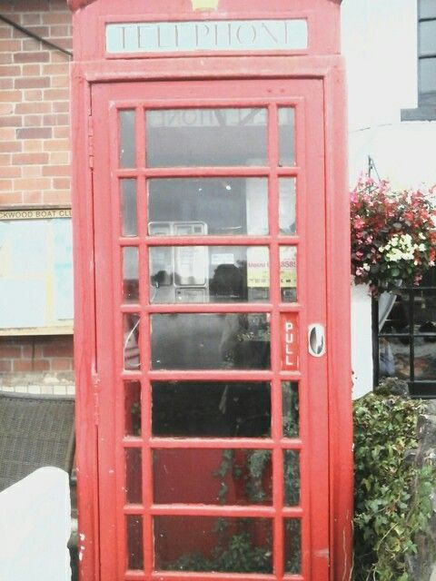 Old telephone box in cockwood.
