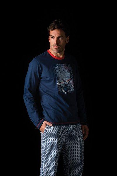 Pijama invierno hombre modelo Bowling