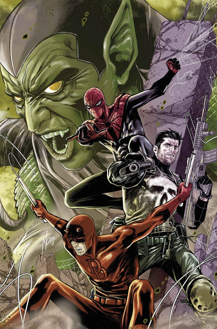 SUPERIOR SPIDER-MAN TEAM-UP #10 KEVIN SHINICK (W) • MARCO CHECCHETTO (A/C) Part two of the prelude to GOBLIN NATION! • An all-out gang war with Spider-Man, Daredevil and the Punisher right in the middle! • Kevin Shinick (MAD, Superior Carnage) continues as the new regular writer! 32 PGS./Rated T+ …$3.99