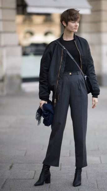 343e599e1d2 Monika Jagaciak seen in the streets of Paris during the Paris Fashion Week  Womenswear Fall Winter 2018 2019 on February 28 2018 in Paris France