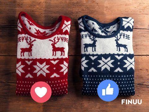 Czerwony czy granatowy? Który z nich założylibyście na świąteczne przyjęcie? :) #finuu #finuupl #sweter #sweater #uglysweater #christmas #bozenarodzenie #xmas