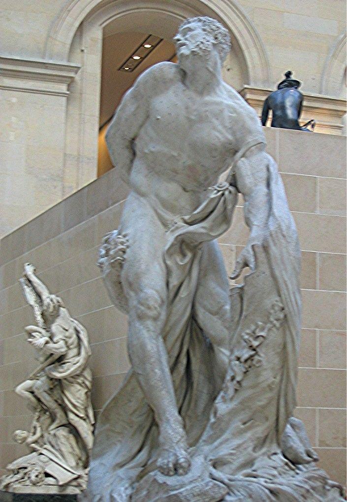Puget1 -CLASSICISME ET SCULPTURE: La sculpture classique est illustrée par PIERRE PUGET: les statures sont pour la plupart équestres et les personnages mythologiques. La pose est élégante et figée. Héritage de la Renaissance dans un seul but: figer l'homme dans sa grandeur et sa dignité.