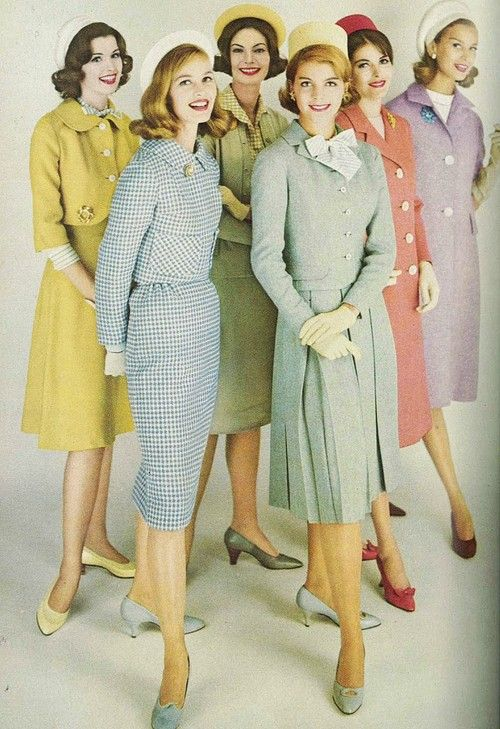 Colorful 1960s fashion: