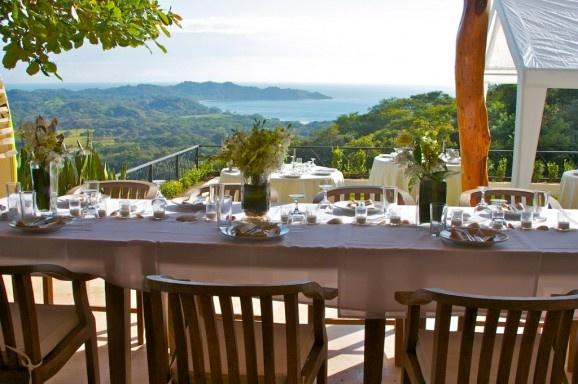 Ocean View Wedding reception in Nosara