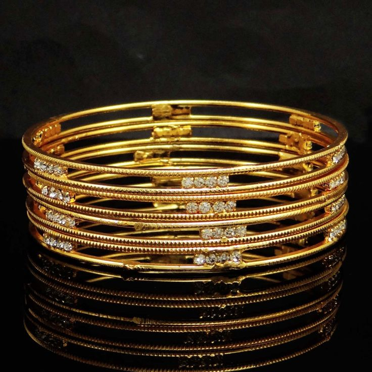 Complete your traditional look for the upcoming family function by wearing these #Goldplated Bangles.