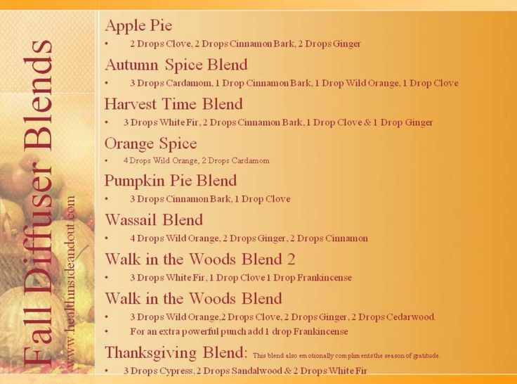Doterra Fall Diffuser Blends