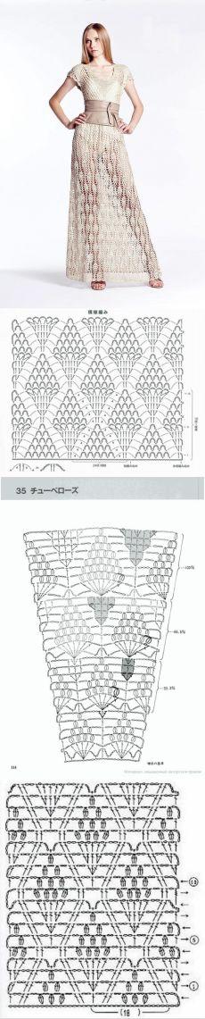 Срафан от бренда Alessandra Meskita+СХЕМЫ. Дизайнерский макси сарафан связанный крючком | Домоводство для всей семьи.