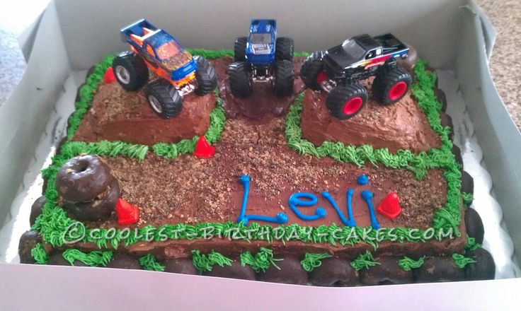Monster Truck Cake... This website is the Pinterest of birthday cake ideas