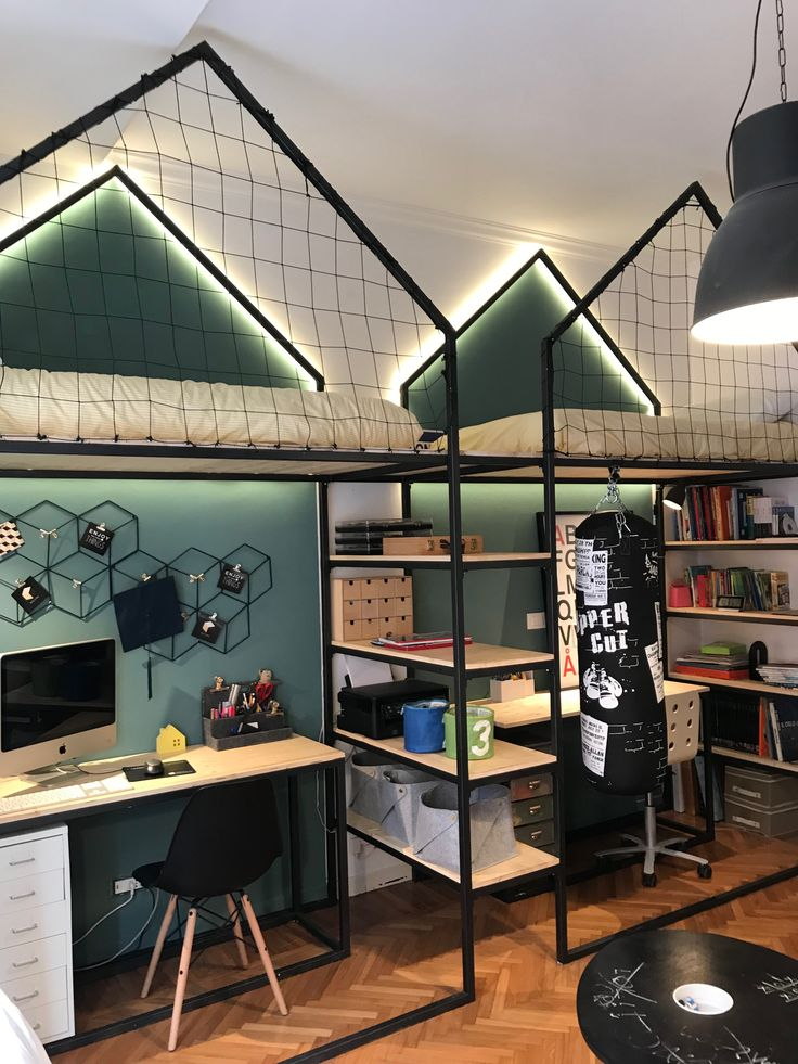 mommo design: LOFT BEDS FOR MY BOYS