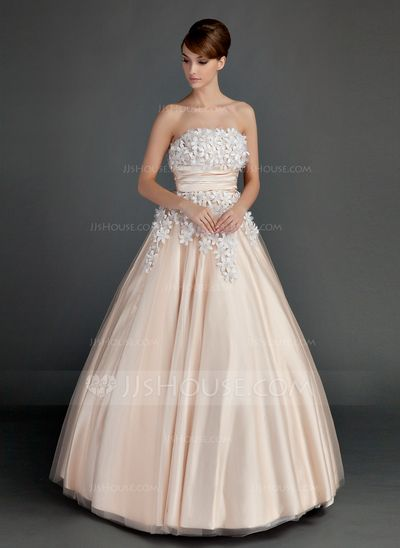 Quinceanera Dresses - $198.99 - Ball-Gown Strapless Floor-Length Tulle Charmeuse Quinceanera Dress With Ruffle Beading Flower(s) (021015713) http://jjshouse.com/Ball-Gown-Strapless-Floor-Length-Tulle-Charmeuse-Quinceanera-Dress-With-Ruffle-Beading-Flower-S-021015713-g15713?ver=xdegc7h0