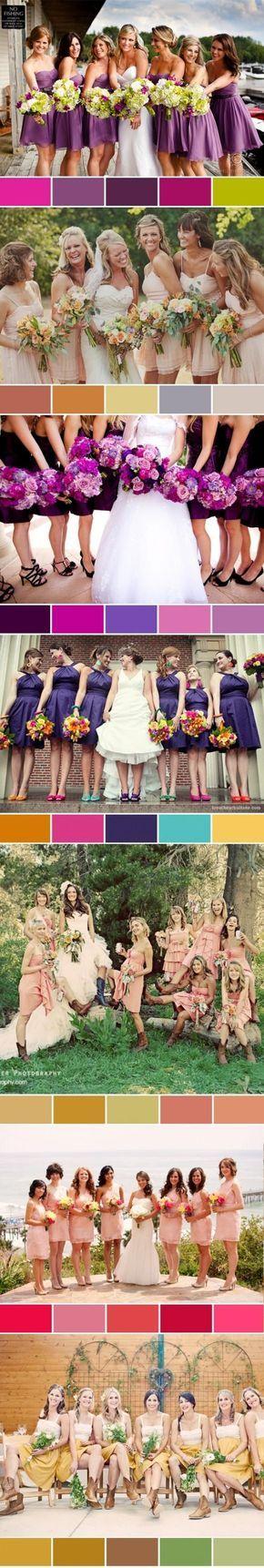 Demoiselles d'honneur, possibilités de couleur !