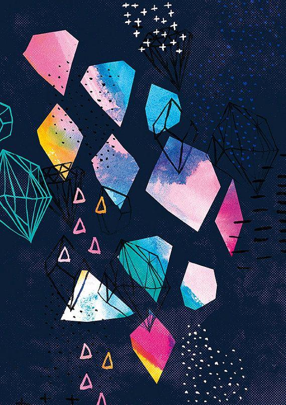 Shine Bright No.2 Art Print by lovelysweetwilliam on Etsy