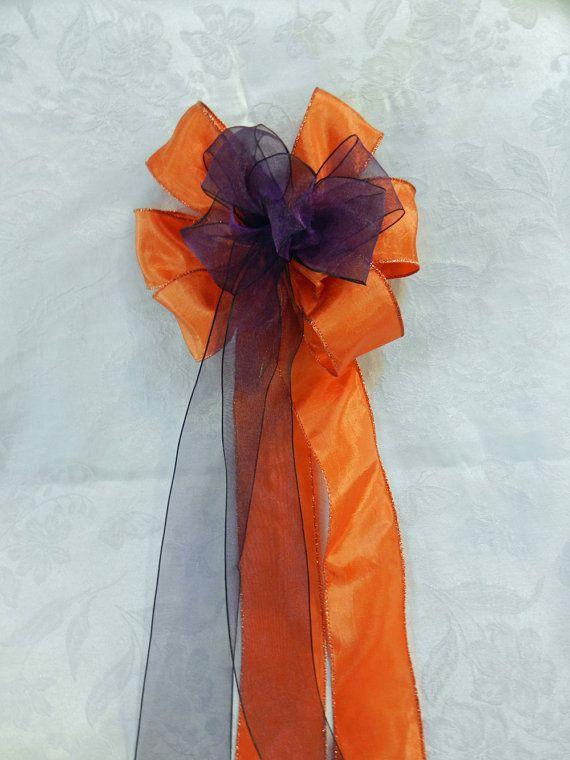 Fall Wedding/ Pew Bows set of 12 Burnt Orange by creativelycarole
