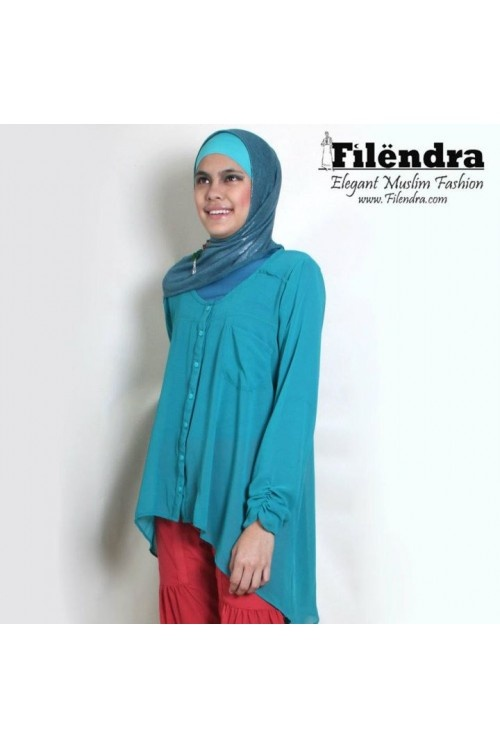 Asymetrical blue tunic from Filendra