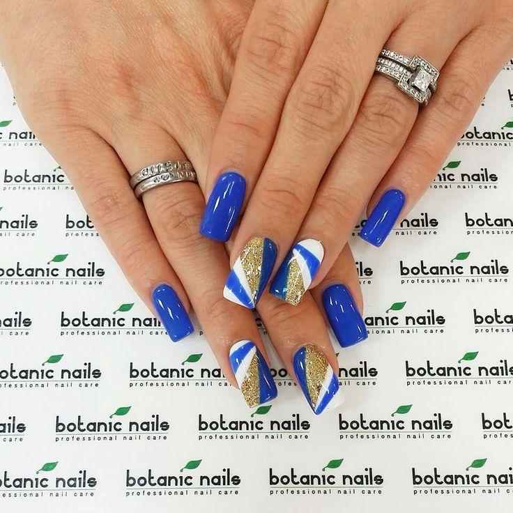 Summer Nail Design Blue