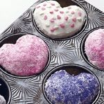 Put a marble in the muffin tin to make heart-shaped cupcakes/muffins