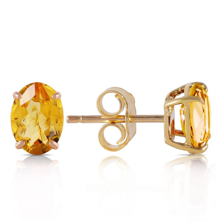 """These 14K Solid Gold """"A Bee Or Two"""" Citrine Earrings make great November birthstone gifts. They capture the very month in their golden citrine gems."""