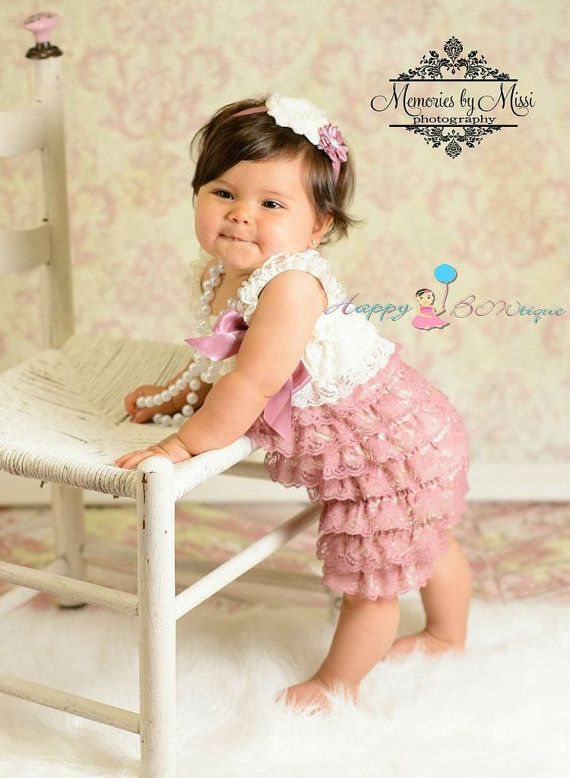 baby girls dress, Dusty Ivory Rose Vintage Lace Dress, ruffle dress, baby dress, Birthday outfit, girls outfit, flower girl dress on Etsy, $30.91 CAD
