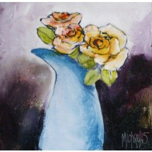 ROSES 170X170 OIL ON BOARD