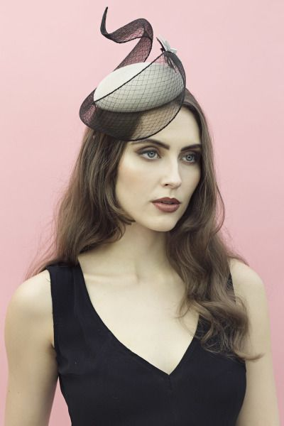 Leda Cocktail Hat by Maggie Mowbray #millinery #hatacademy