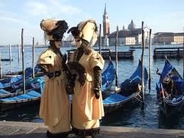 Venice Masked Carnival and Gondolas